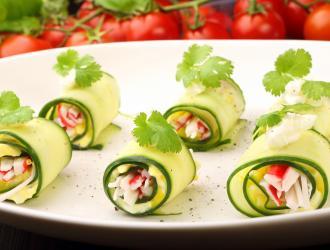 Bouchée apéritive de courgette au surimi fleury michon marmiton recette