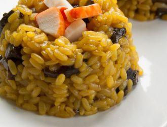 Risotto safrané champignons surimi fleury michon marmiton recette