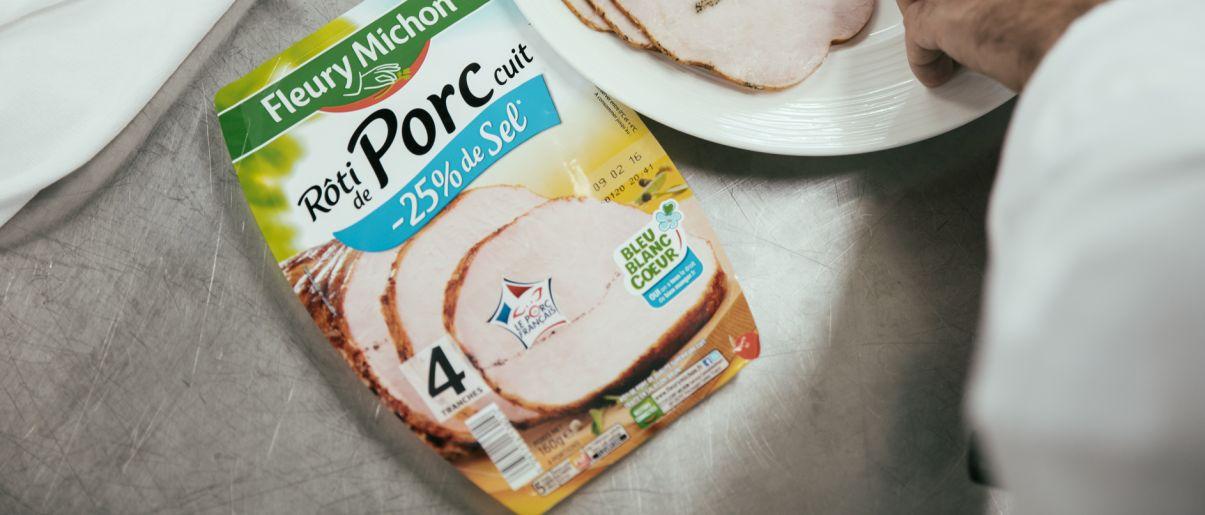 bleu blanc coeur partenaire sel réduit rôti porc fleury michon charcuterie manger mieux groupe