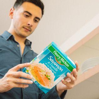 étiquetage nutritionnel conseils nutrition manger mieux fleury michon saumon oseille riz basmati plat cuisinés