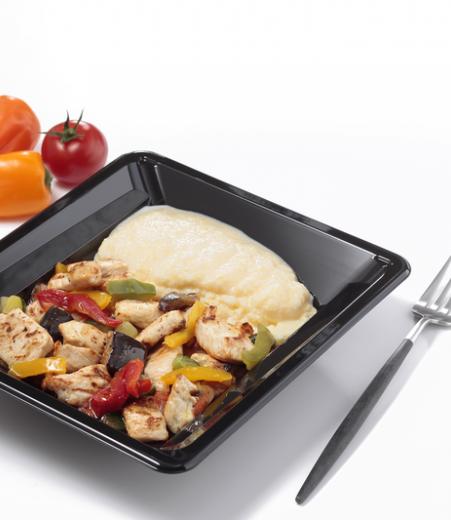 Poulet basquaise polenta et légumes grillés