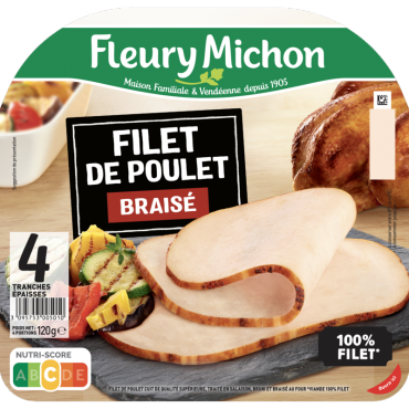 Filet de poulet braisé