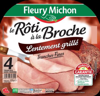 Jambon Le Rôti à la Broche lentement Grillé