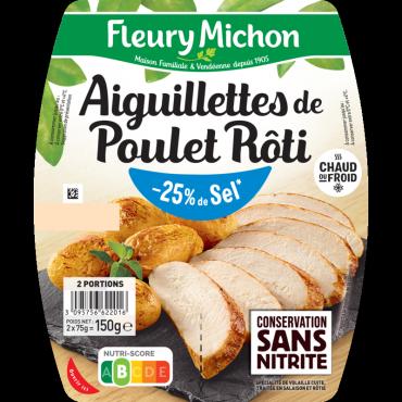 Aiguillettes de poulet - 25% de Sel*