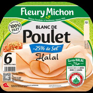 Blanc de Poulet Halal -25% de sel