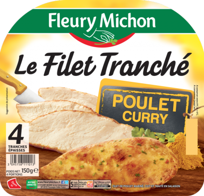 Filet tranché de poulet curry