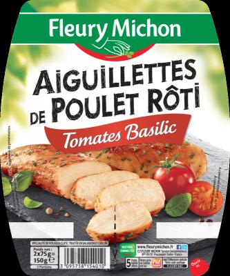 Aiguillettes de poulet tomates basilic