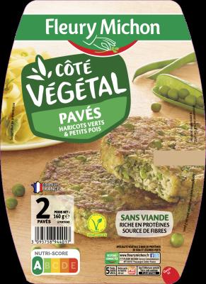 Pavé Côté Végétal haricots verts et petits pois