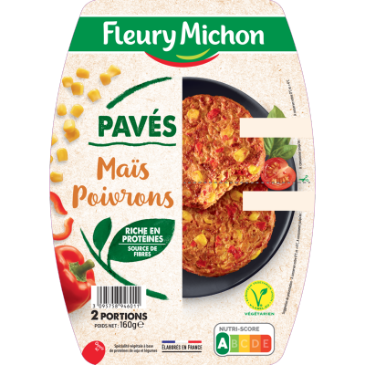 Pavés Côté Végétal maïs et poivrons
