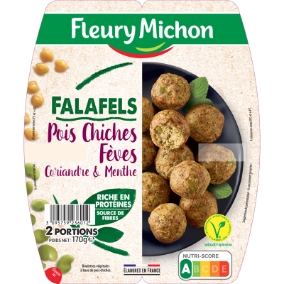 Falafels, Pois chiches, fèves, coriandre et menthe