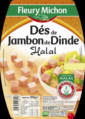 Dés de jambon de dinde Halal