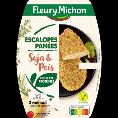 Escalopes panées végétales soja, blé et pois