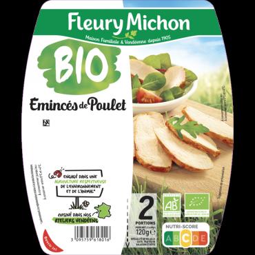 Emincés de poulet rôti -25% de sel  BIO
