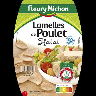 Lamelles de Poulet Halal -25% de sel