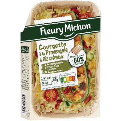 Courgettes à la provençale et riz crémeux