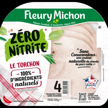 4 Tranches Jambon de Porc au Torchon Zéro Nitrite