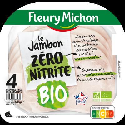 4 tranches Jambon de Porc Zéro Nitrite BIO