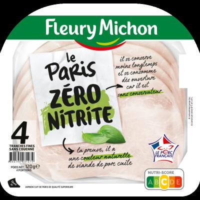 4 Tranches Jambon de Paris Zéro Nitrite