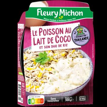 Le Poisson au lait de coco et son duo de riz