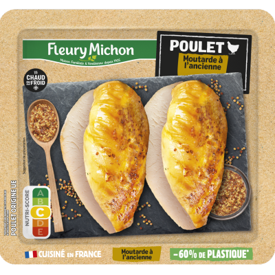 Filet de poulet cuisiné moutarde à l'ancienne