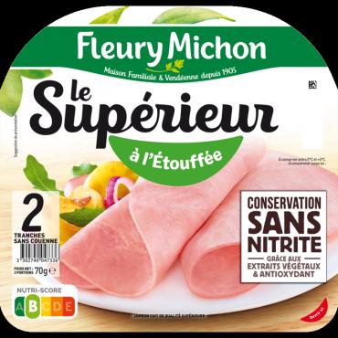 2 Tranches Jambon Le Supérieur Conservation Sans Nitrite