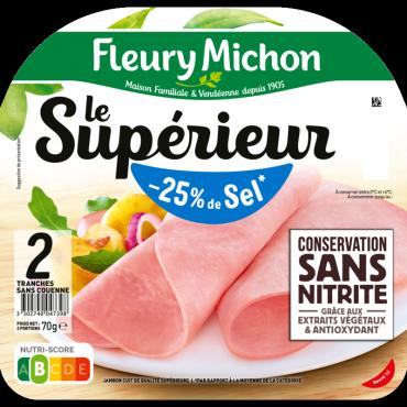 Jambon Le Supérieur Conservation Sans Nitrite -25% de sel