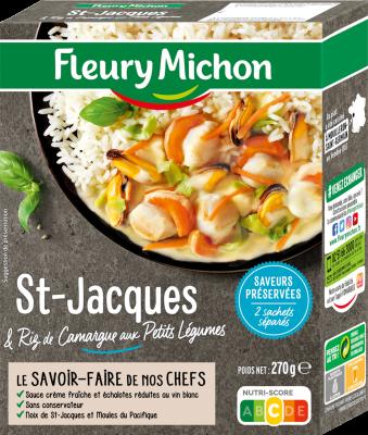 St-Jacques & riz de Camargue aux petits légumes