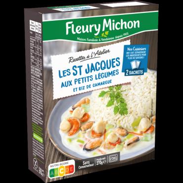 St-Jacques aux petits légumes & riz de Camargue