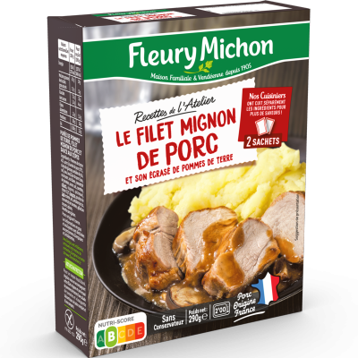 Filet Mignon de Porc aux Cèpes, Purée à la Crème