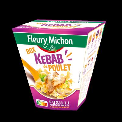 BOX KEBAB de POULET (fusilli kebab de poulet & sauce blanche)