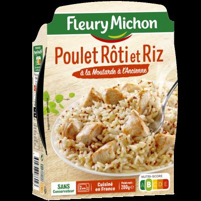 Poulet Rôti et Riz à la Moutarde à l'Ancienne