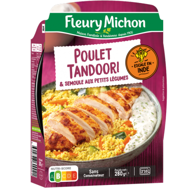 Le Poulet tandoori semoule aux petits légumes