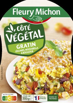 Gratin légumes, mozzarella et boulgour