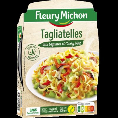 Tagliatelles aux légumes et curry vert