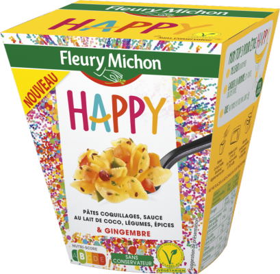 BOX HAPPY - Pâtes coquillages, sauce au lait de coco, légumes, épices et gingembre