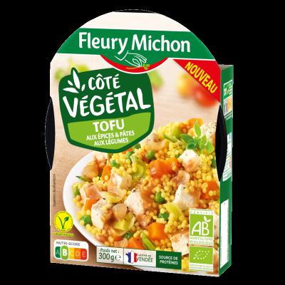 Tofu aux épices et pâtes aux légumes