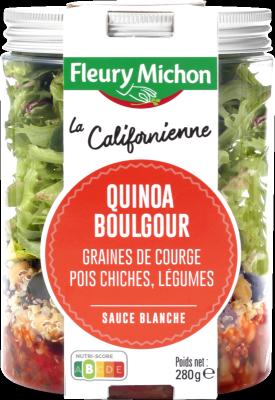 SALAD JAR - La Californienne - Boulgour quinoa, graines de courge, pois chiches, légumes, sauce blanche