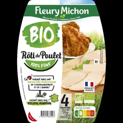 Rôti de poulet -25% de sel BIO