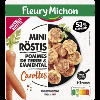 Mini-Röstis pommes de terre & emmental carottes