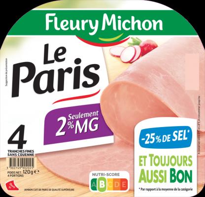 Jambon de Paris Léger -25% de sel
