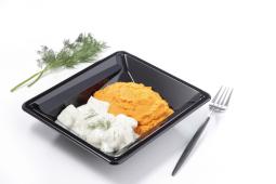 Colin sauce aneth purée de carottes pauvre en sel