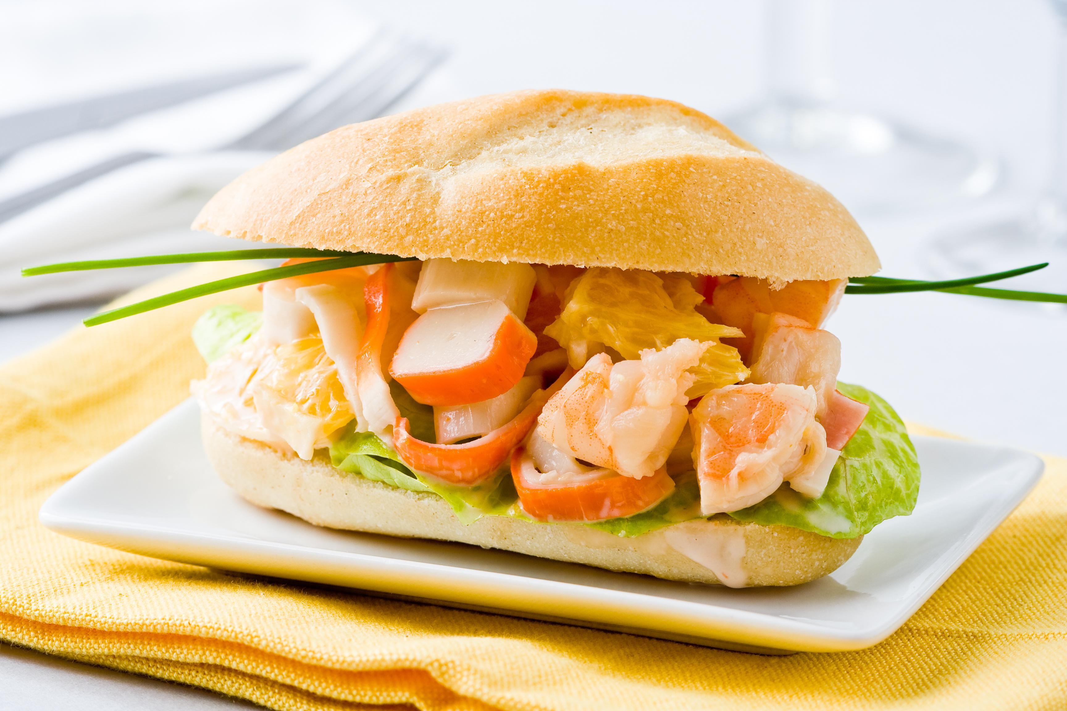 Mini sandwich surimi crevette laitue fleury michon marmiton recette