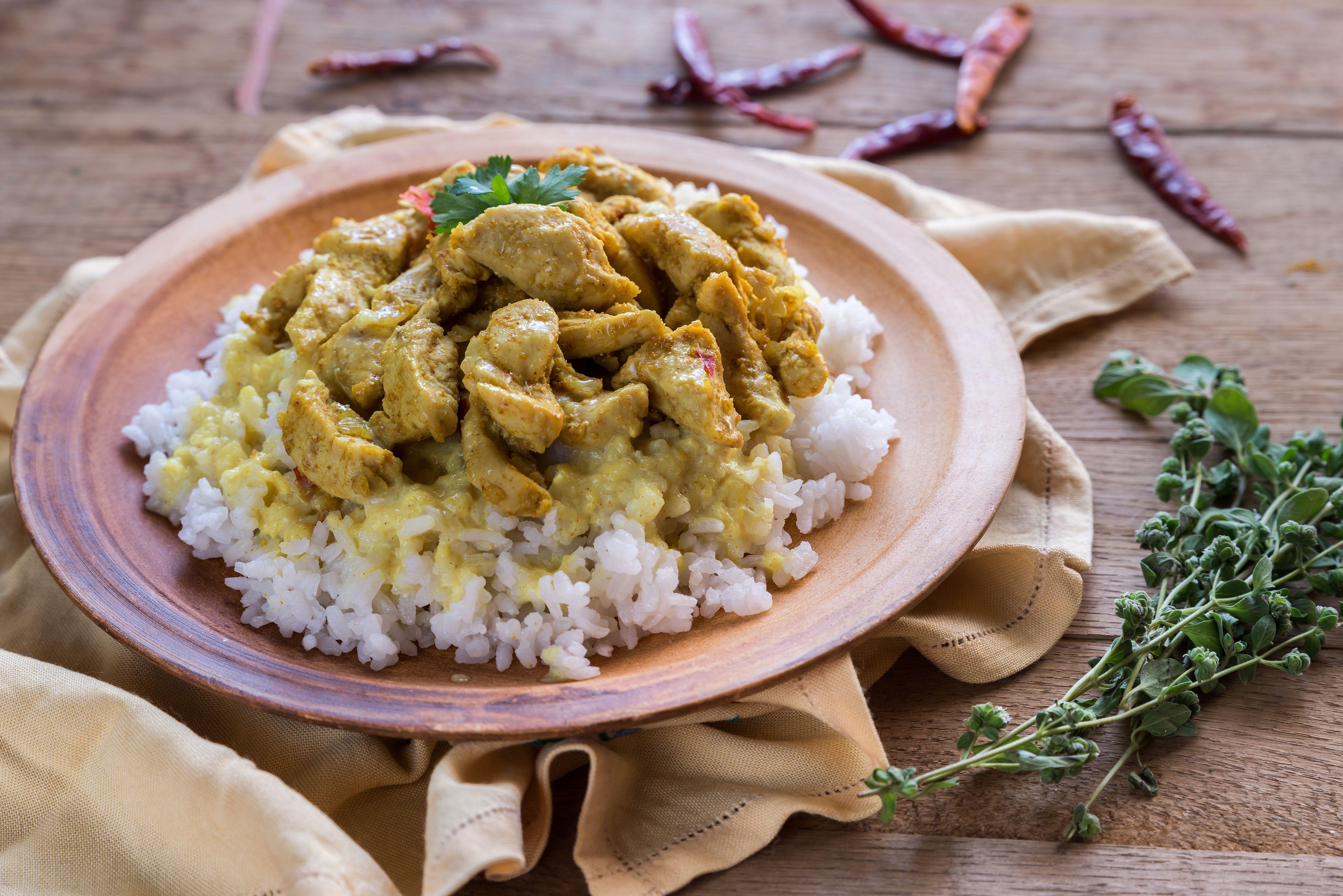 Riz poulet indienne