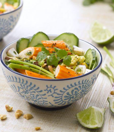 Salade de surimi à la Thaï