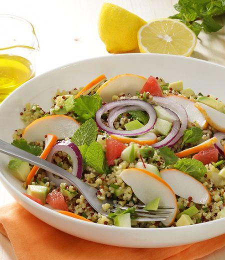 Taboulé de quinoa aux émincés de surimi