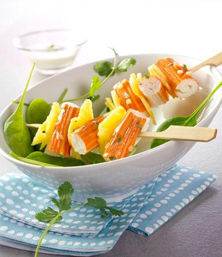 Brochettes créoles surimi Ananas