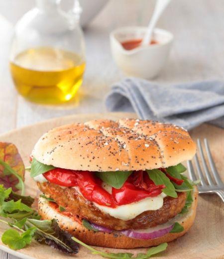 Burger gourmand au Steak « Côté Végétal » Soja et Pois