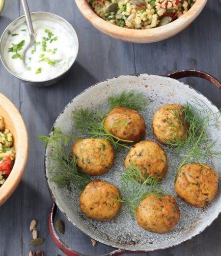 Taboulé aux herbes, tomates confites et Falafels « Côté Végétal »