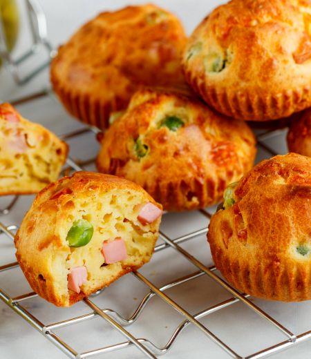 Muffins dés de jambon et olive
