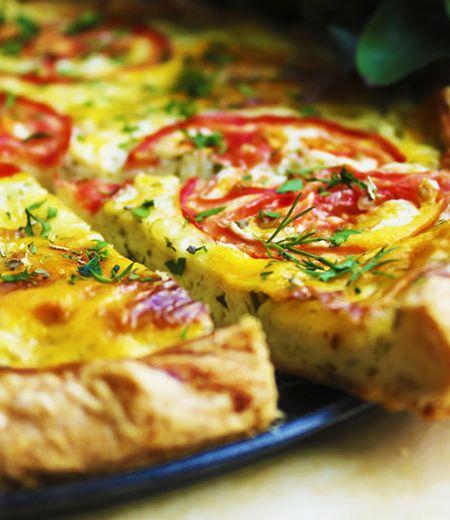Quiche à la tomate et mozzarella